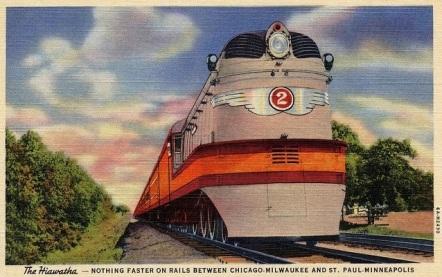 Hiawatha_Milwaukee_Road_Postkarte_1935